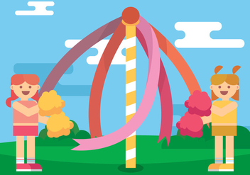 Maypole Kids Vector Art - бесплатный vector #430881