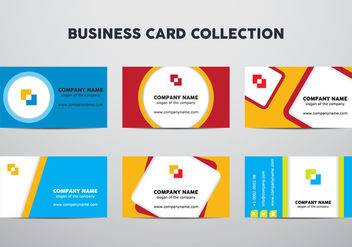 Business Card Set - vector gratuit #430891