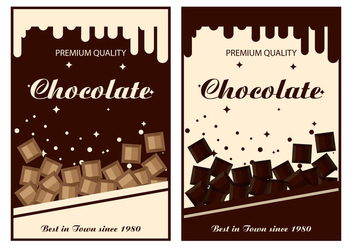 Chocolate Label Vector Templates - Free vector #430901