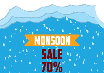 Monsoon Background Vector - Free vector #430911