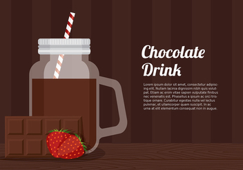 Chocolate Drinking Jar Template Free Vector - vector gratuit #430941