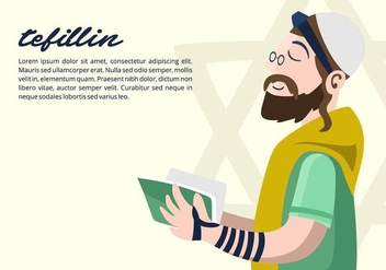 Tefillin Background - vector gratuit #430981