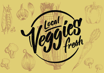 Local Vegetables Design - vector gratuit #431001