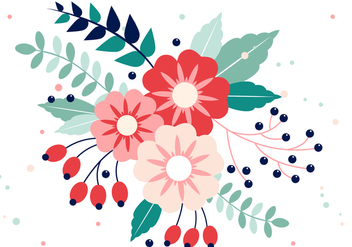 Free Vector Spring Flower Design - бесплатный vector #431041