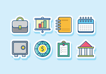 Business Icon Set - vector #431051 gratis
