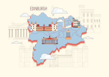 Edinburgh Map Vector - бесплатный vector #431081