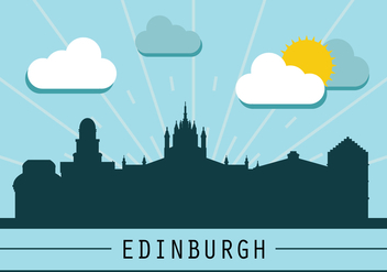 Edinburgh Skyline Silhouette - Free vector #431111
