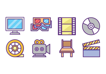 Free Movie Icon Pack - vector gratuit #431121