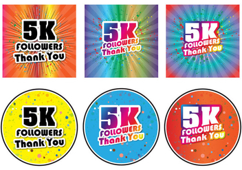 5K Followers Spring - Free vector #431171