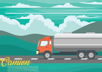 Camion Vector Background - Kostenloses vector #431181