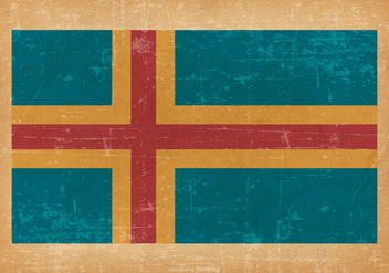 Flag of Aland on Grunge Background - Free vector #431191