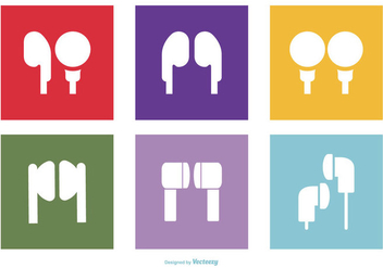 Headphone/Earbuds Icon Collection - vector gratuit #431221
