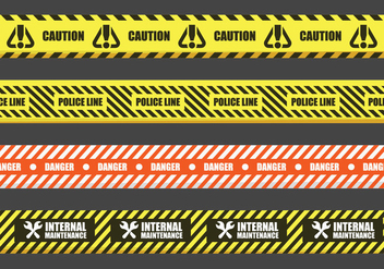 Danger Tape Vector Signs - Free vector #431261