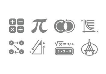 Grey Mathematic Symbol Vectors - Free vector #431271