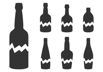 Broken Bottle Silhouette - vector #431311 gratis