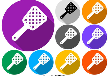 Vector Colorful Fly Swatter Buttons - бесплатный vector #431321