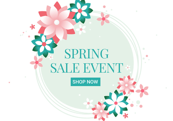 Free Spring Season Sale Vector Background - Free vector #431461