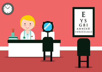 Eye Doctor Clinic Vector Illustration - бесплатный vector #431471