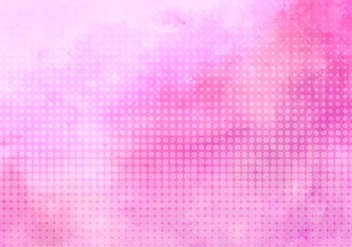 Free Vector Pink Halftone Background - бесплатный vector #431541