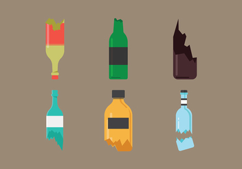 Broken Bottle Free Vector - vector gratuit #431551