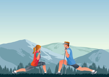 Nordic Walking Instructor Course - Free vector #431611