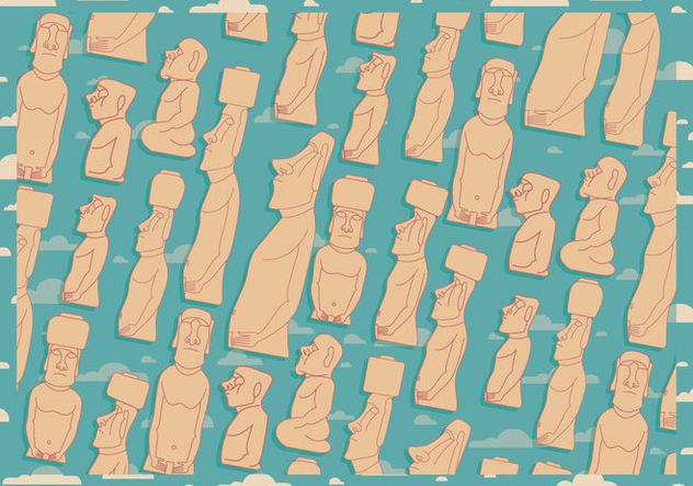 Easter Island Background Vector - Free vector #431621