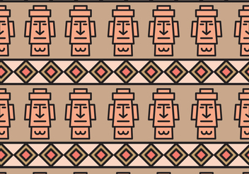 Easter Island Rock Face Pattern - Free vector #431631