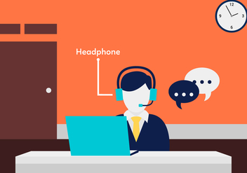 Call Center Agent Vector - vector #431651 gratis