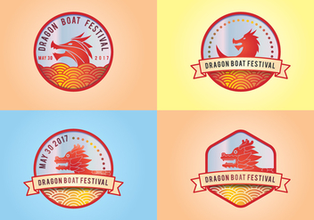 Dragon Boat Festival Logo Elements - Free vector #431681