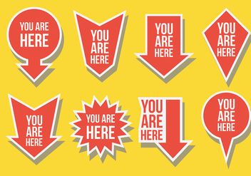 Free You Are Here Icons Vector - Kostenloses vector #431691