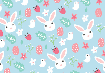 Floral Easter Background - Kostenloses vector #431781