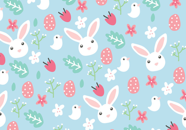 Floral Easter Background - Free vector #431781