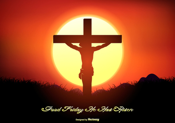 Good Friday Landscape Illustration - Free vector #431801