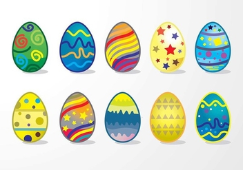 Easter Eggs Colour Creation Variant - vector gratuit #431821