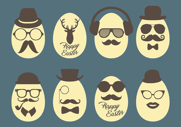 Hipster Easter Vector Icons - бесплатный vector #431831