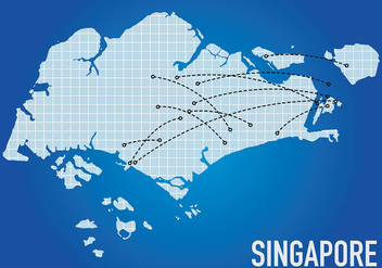 Singapore Flight Maps Background Vector - Free vector #431841