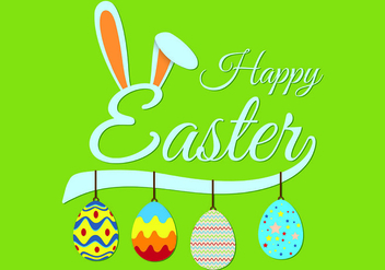 Easter Bunny Ears Background Vector - vector #431851 gratis