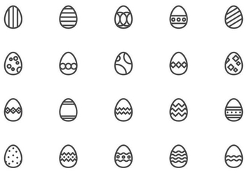 Free Easter Eggs Vectors - бесплатный vector #431871