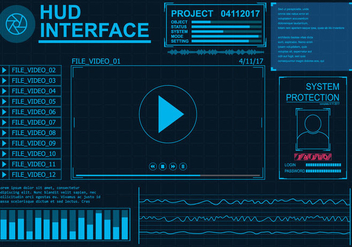 Hud Interface Vector Set - Free vector #431881