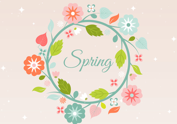 Free Spring Flower Wreath Background - Kostenloses vector #431901