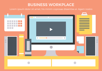 Free Business Workplace Vector Elements - Free vector #431911