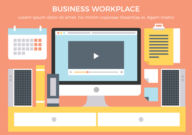 Free Business Workplace Vector Elements - vector #431911 gratis