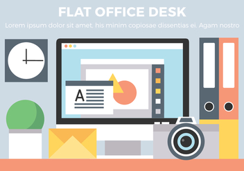 Free Office Desk Vector Elements - бесплатный vector #431921