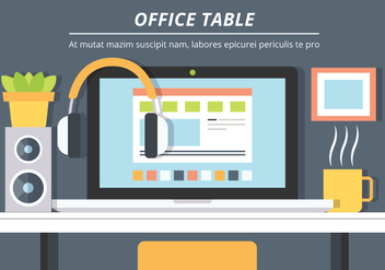 Free Office Table Vector Background - vector gratuit #431931
