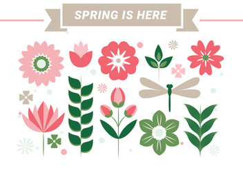 Free Spring Season Vector Background - Kostenloses vector #431951