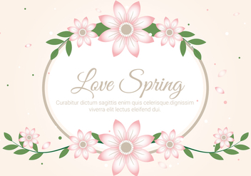Free Spring Season Decoration Vector Background - Kostenloses vector #431961