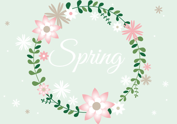 Free Spring Flower Wreath Background - Kostenloses vector #432011