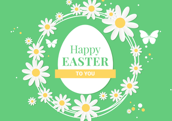 Free Spring Happy Easter Vector Illustration - Kostenloses vector #432061