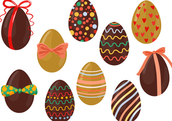 Free Chocolate Eggs Vectors - Free vector #432111