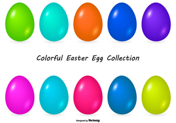 Colorful Easter Egg Collection - Kostenloses vector #432131